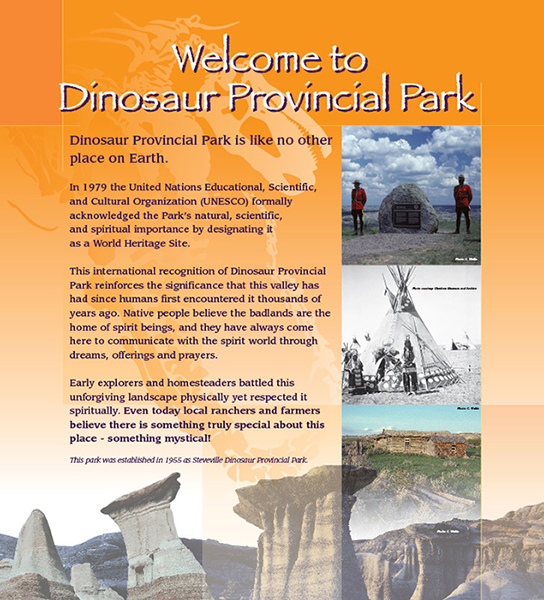 welcome to dinosaur provincial park